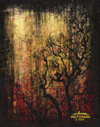 Creepy Painting Metal Prints - Tree Metal Print by Arleana Holtzmann