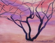 Molleur Posters - Tree at Sunset Poster by Suzanne  Marie Leclair
