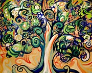 Green Movement Paintings - Tree Candy 2 by Genevieve Esson