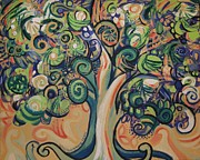 Green Movement Paintings - Tree Candy by Genevieve Esson