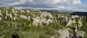 Montpellier Prints - Tree covered rock formations of Chaos de Montpellier le Vieux Print by Sami Sarkis