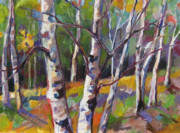 Autumn Trees Painting Posters - Tree Dance Poster by Marty Husted