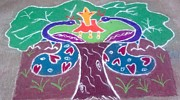 Color Ceramics Prints - Tree Design Print by Joni Mazumder