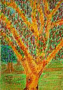 Fineart Pastels Posters - Tree Poster by Errol DSouza
