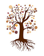 Fall Colors Autumn Colors Drawings Posters - Tree Poster by Frank Tschakert