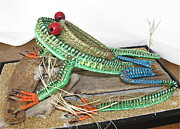 Raffia Sculptures - Tree Frog by Beth Lane Williams
