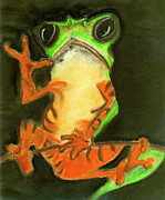 Tree Frog Pastels Prints - Tree Frog Print by Tassia and Art with a Heart In Healthcare