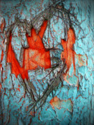 Colourful Bark Prints - Tree Heart Print by Tara Turner