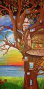 Storybook Prints - Tree House Print by Manuela Muminovic