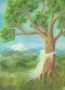 Elvin Prints - Tree Hugger Print by Bernadette Wulf