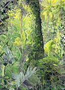 Rainforest Paintings - Tree in Garden by Fay Biegun - Printscapes