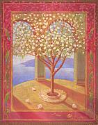 Tree Of Life Pastels - Tree In Golden Light by Dawn Meader
