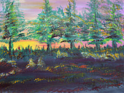 Prairie Paintings - Tree Line by James Bryron Love