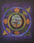 Tree Mandala Originals - Tree Mandala by Jo Thompson