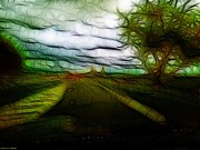 Shan Peck Acrylic Prints - Tree next to the road Acrylic Print by Shan Peck