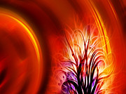 Ornamental Digital Art - Tree of Fire by Ann Croon