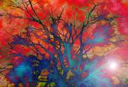 Ghosts Digital Art Metal Prints - Tree of Ghosts Metal Print by Linnea Tober
