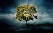 Hope Digital Art Prints - Tree of Hope Print by Karen Koski