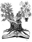 Sideshow Drawings - Tree Of Knowledge by Kevin Lea
