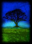 Splashy Mixed Media Originals - Tree of Life - Blue Skies by Robert R Splashy Art