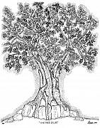 Christian Drawings Framed Prints - Tree Of Life 1 Framed Print by Glenn McCarthy Art and Photography