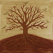 Red Tree Paintings - Tree of Life 3 by Sophy White