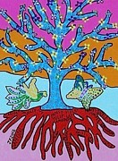 Invitations Paintings - Tree Of Life and Knowledge by Jennifer Fayth