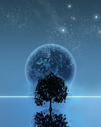 Space Art Digital Art - Tree Of Life by Andreas  Leonidou