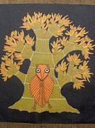 Gond Art Painting Originals - Tree Of Life Bs 35 by Bhajju Shyam