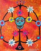Day Of The Dead Prints - Tree Of Life Day Of The Dead Print by Pristine Cartera Turkus