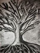 Tree Roots Mixed Media Prints - Tree of Life Print by Erika Frey