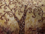 Tree Of Life Homage To Klimt Print by Darlene Keeffe