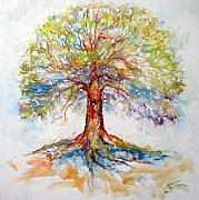 Tree Roots Painting Posters - TREE of LIFE HOPE Poster by Marcia Baldwin
