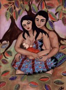 Breastfeeding Paintings - Tree of Life by Jennifer Mourin