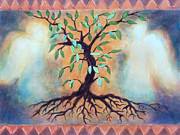 Tree Roots Mixed Media Metal Prints - Tree of Life Metal Print by Kathy Braud