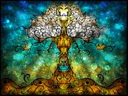Biblical Digital Art - Tree of Life by Mandie Manzano