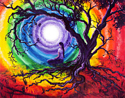 Hippie Painting Originals - Tree of Life Meditation by Laura Iverson