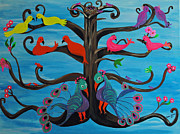 Fantasy Tree Art Paintings - Tree of Life by Melanie Wadman