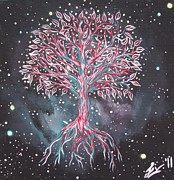 Tree Roots Painting Posters - Tree of Life Poster by Olivia Candille