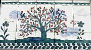 Still Life Ceramics - Tree of Life--Portuguese Folk Art Style by Dy Witt