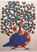 Gond Tribal Art Mixed Media - Tree Of Life by Rajendra Shyam