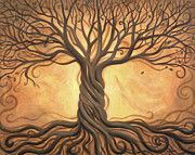 Oak Trees Framed Prints - Tree of Life Framed Print by Renee Womack