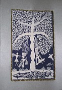 Warli Paintings - Tree Of life by Samiksha Jain