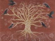 Iron Oxide Paintings - Tree of Life by Sophy White