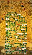 Curves Posters - Tree of Life Stoclet Frieze Poster by Gustav Klimt