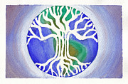 Tree Roots Paintings - Tree of Life by Tricia Griffith