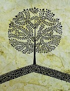 Tribal Art Paintings - TREE OF LIFE-Warli Contemporary painting by Aboli Salunkhe