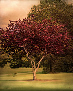 Autumn Landscape Art - Tree of Love by Jai Johnson