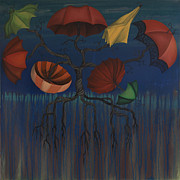 Umbrella Paintings - Tree of Protection by Kelly Jade King