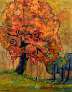 Fall Paintings - Tree of Wisdom by Blenda Studio